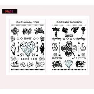 [YG 公式商品] 2NE1 I LOVE YOU Tattoo Stickers (a set of two)