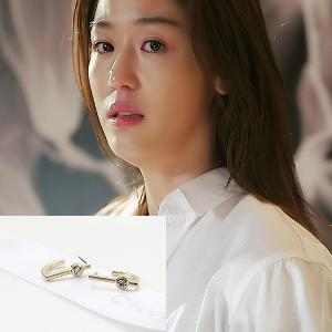 My Love from the Star - SBS Drama_Jun ji hyun : violeta white earring