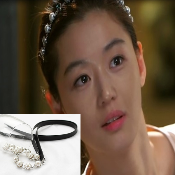 My Love from the Star - SBS Drama_Jun ji hyun : silver lining hairband (leather)