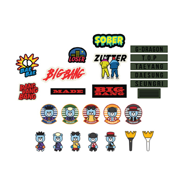 [韓国公式グッズ] Bigbang(ビッグバン) : BIGBANG    STICKER SET [BIGBANG WORLD TOUR 'MADE' FINAL IN SEOUL] (BIGBANG公式応援グッズ)
