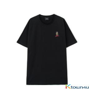 NONA9ON - [MEN'S] WELCOME TO THE YEAR OF DOG EMBROIDERED T-SHIRT (BK)