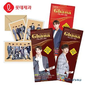 [LOTTE] Ghana Plus 100 70g*5EA (Wanna one postcard 5p Limited Edition)