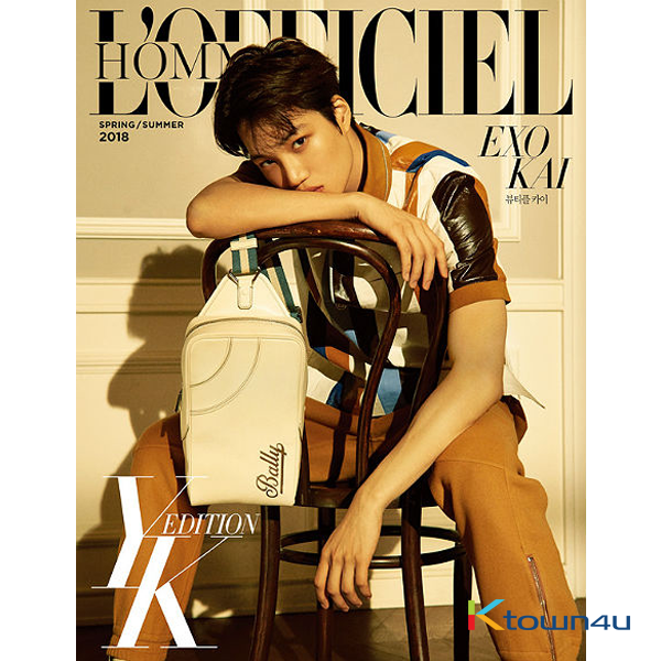 L`OFFICIEL HOMMES YK EDITION A Type (Cover : EXO : KAI)