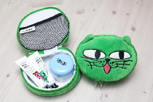 [+Free Pouch] [Color Set 1] [costagram] OKCAT - MILK FACE LIP CAPTURE TINT (#1010 Candy sweet red) + EYE SHADOW + LIP BALM