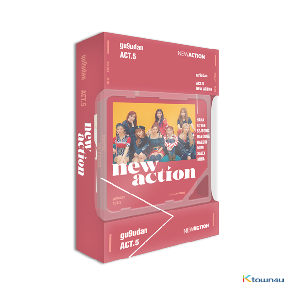 Gugudan - Mini Album Vol.3 [Act.5 New Action] (Kihno Album) *Due to the built-in battery of the Khino album, only 1 item could be ordered and shipped at a time.