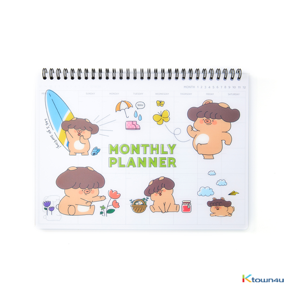 [BONICREW] My Secret Terrius So Ji Sub - Mani Monthly Planner