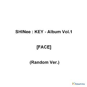 SHINee : KEY - Album Vol.1 [FACE] (Random Ver.) *Different versions will be sent in case of purchasing more than 2 albums