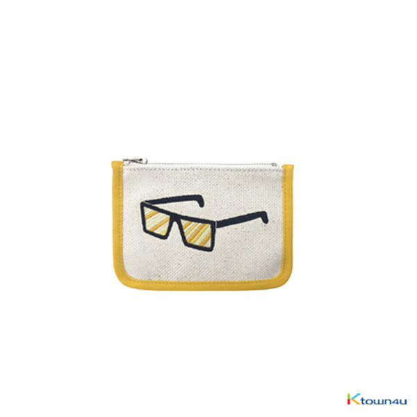 [SKULLHONG] SUNGLASS EMBROIDERY CARD WALLET [18SS] カードウォレット