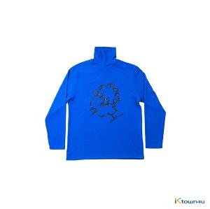 [SKULLHONG] BLUE TURTLENECK T-SHIRT [15FW] ブルータートルネックTシャツ