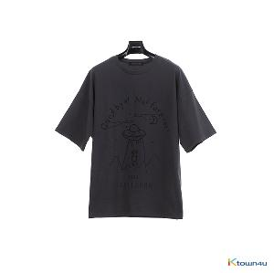 [SKULLHONG] SPACE T-SHIRT CHARCOAL [19SS] スペースT-シャツチャコール