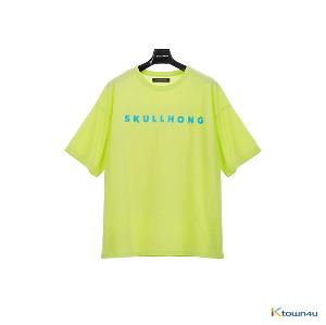 [SKULLHONG] Logo T-Shirt Yellow Green [19SS] ロゴTシャツ・イエローグリーン