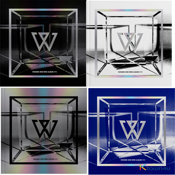 [セット] WINNER - ミニアルバム 2集 [WE] (BLACK Ver.+ BLUE Ver. + SILVER Ver. + WHITE Ver.)
