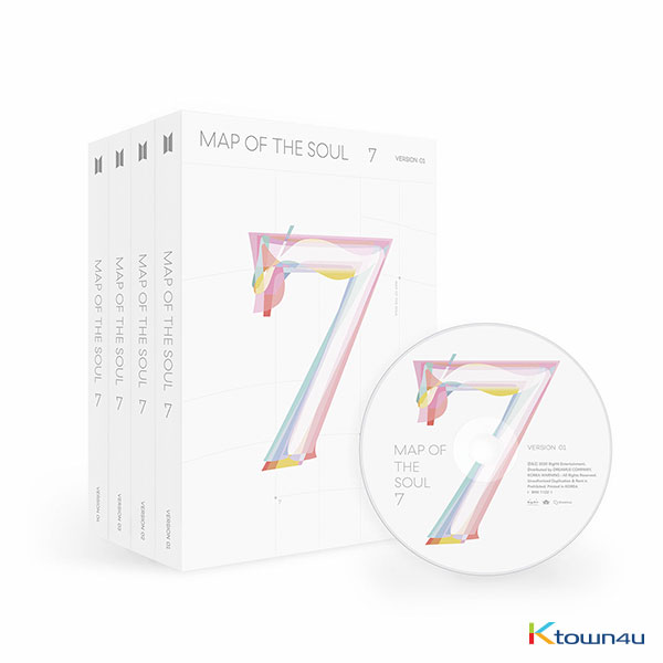 [セット] BTS - Album [MAP OF THE SOUL : 7] (Ver. 1 + Ver. 2 + Ver. 3 +Ver. 4)