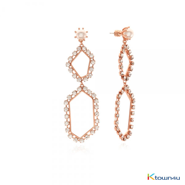GLAM 2 GLITTER EARRINGS (ROSE GOLD)
