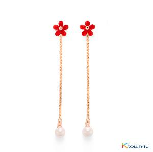 Cherry Blossom Pearl Drop Earrings