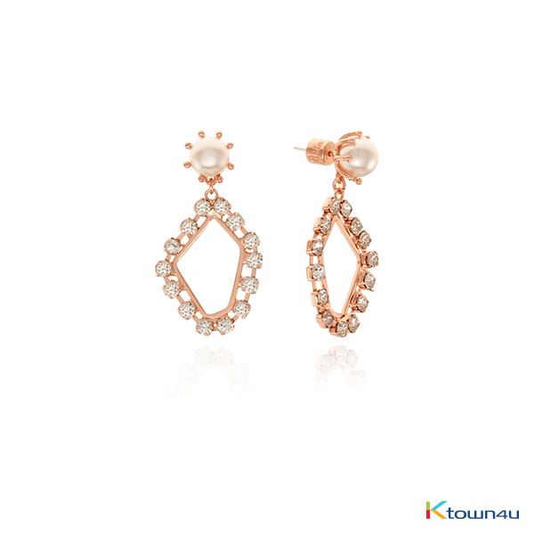 [RITA MONICA] GLAM GLITTER EARRINGS (ROSE GOLD)
