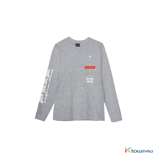 [H.Y.L.T] BLACKPINK - LONG SLEEVE T-SHIRTS GRAY