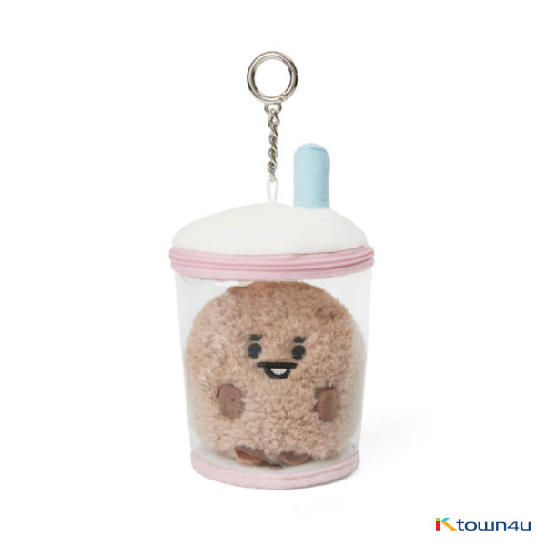 [BT21] lineFriends BT21 SHOOKY BABY Buckle Bubble Tea Back Cham