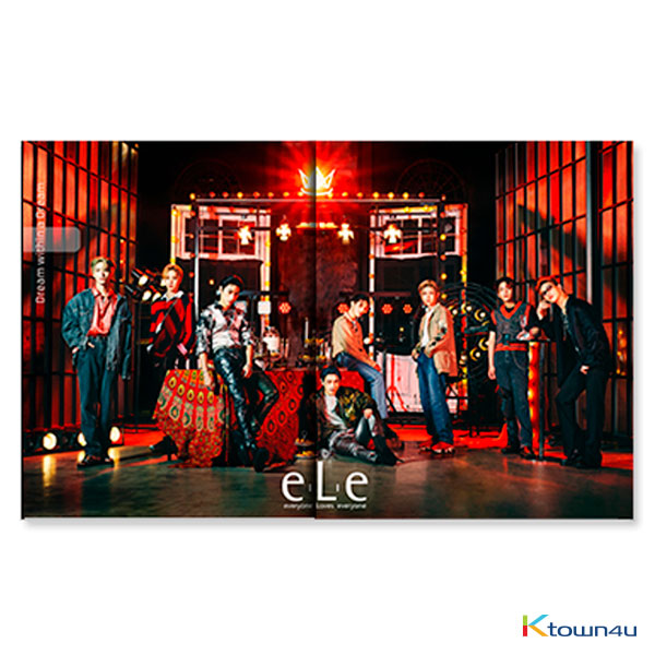 eLe magazine Vol.1 B Type (ATEEZ) *Folded poster + Random sticker + ELE Clear bag gift