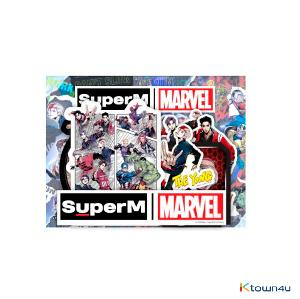 SuperM - SuperM X MARVEL LUGGAGE STICKER SET