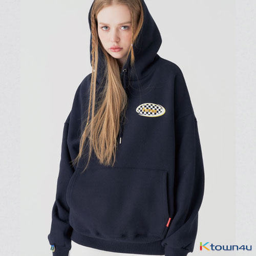 [fevertime] 21 checker small hoodie_navy(M)