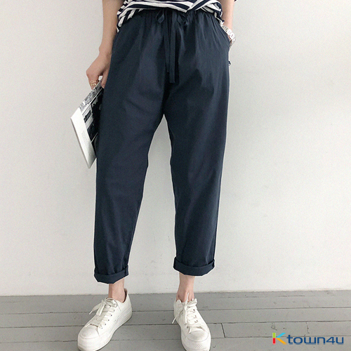 [naning9]Cuile Baggy Pants_Navy