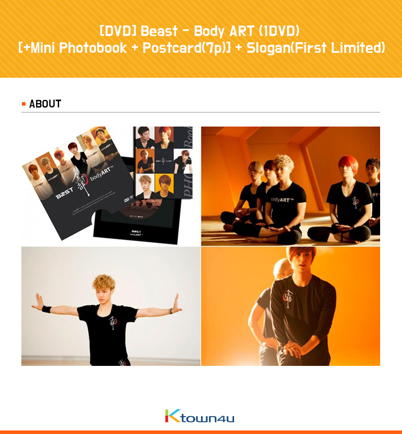 [DVD] Beast - Body ART (1DVD) [Mini Photobook + Postcard(7p)] + Slogan(First Limited)
