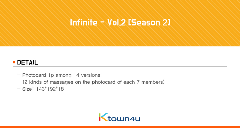 Infinite - Vol.2 [Season 2] (+ Photocard 1p)