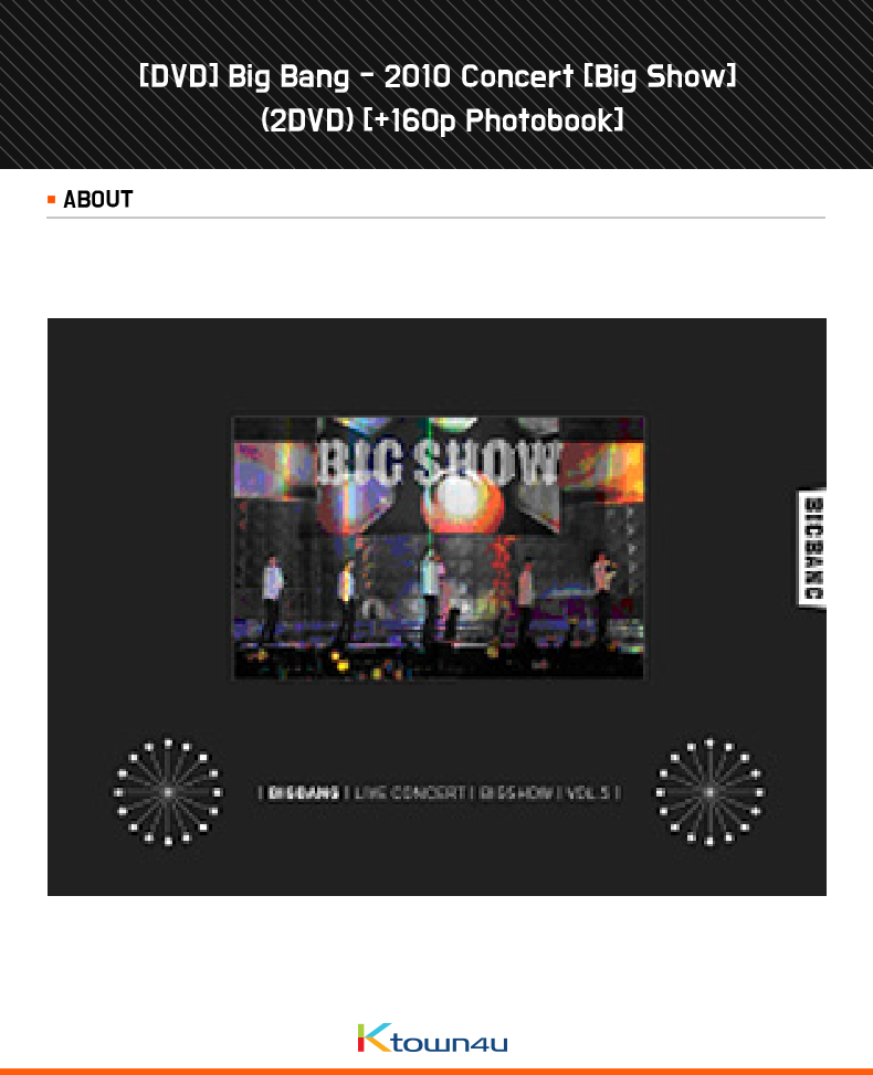 [DVD] Big Bang ビッグバン - 2010 Concert [Big Show] (2DVD) [+ Photobook(160p)]