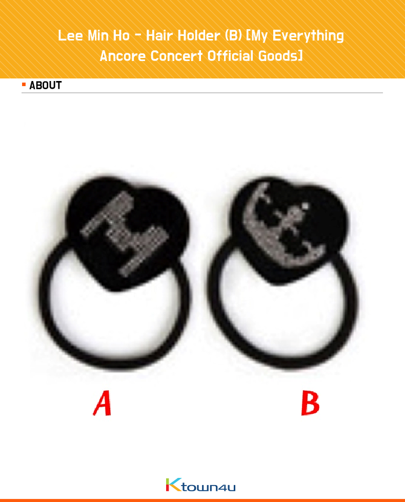 [My Everything Ancore Concert Official Goods] Lee Min Ho - Hair Holder (B)