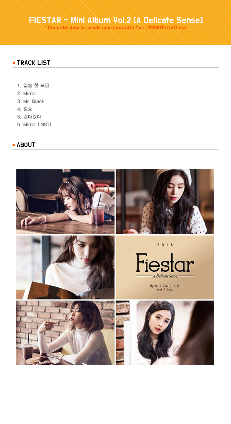 FIESTAR - Mini Album Vol.2 [A Delicate Sense]