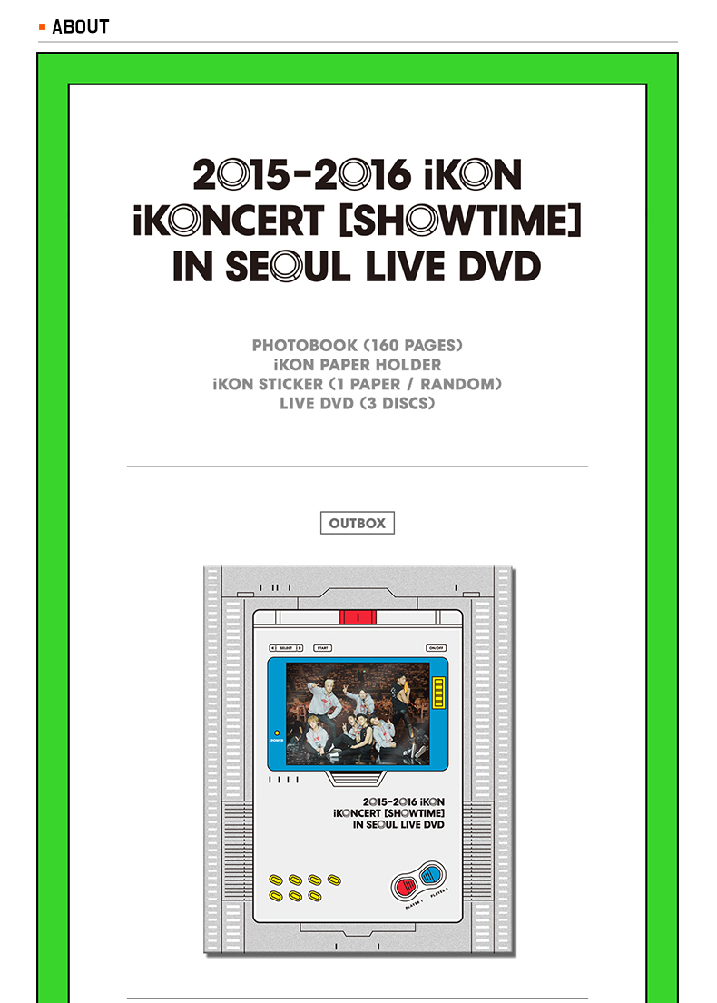 [DVD] iKON - 2015-2016 iKONCERT [SHOWTIME] IN SEOUL LIVE DVD