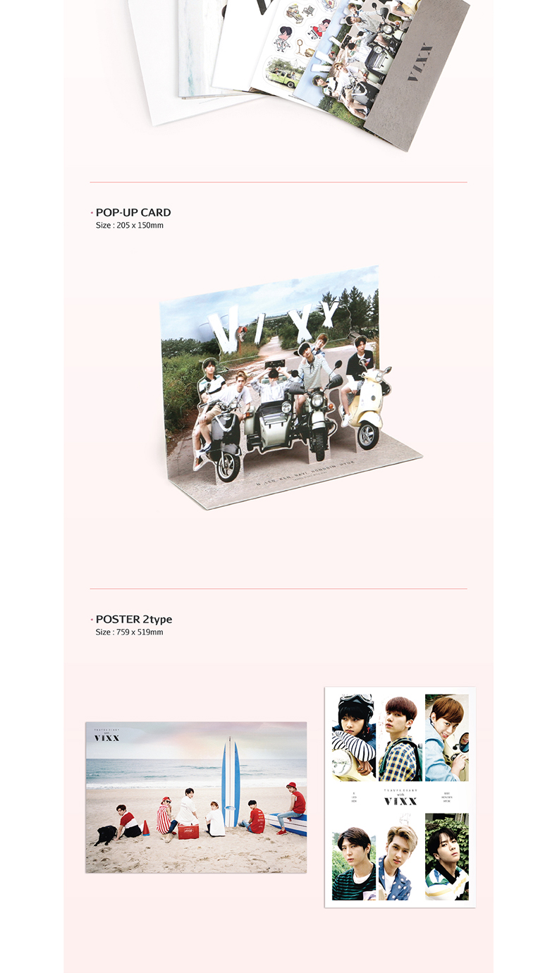 [写真集&DVD] VIXX (ビックス) - VIXX 2016 PHOTOBOOK [TRAVEL DIARY with VIXX] (韓国版)