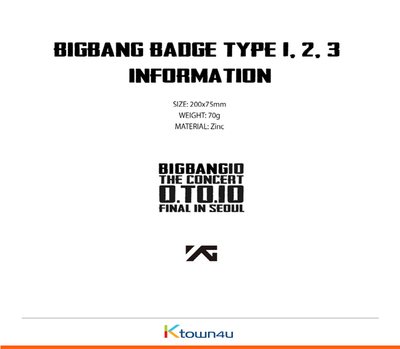 [0TO10] BIGBANG - BADGE