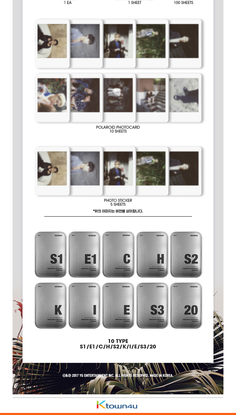 SECHSKIES - SECHSKIES 20TH ANNIVERSARY PHOTOCARD COLLECTION in HAWAII (Random ver.)