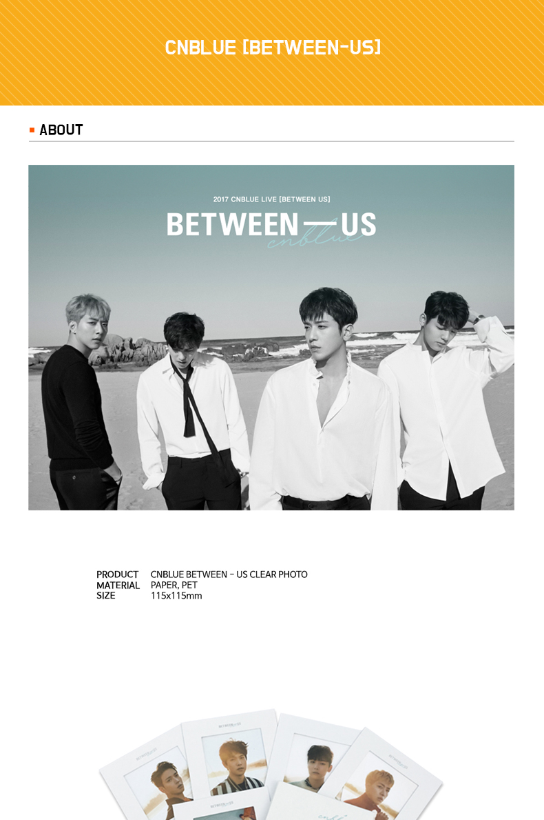CNBLUE - クリアフォト [BETWEEN-US]