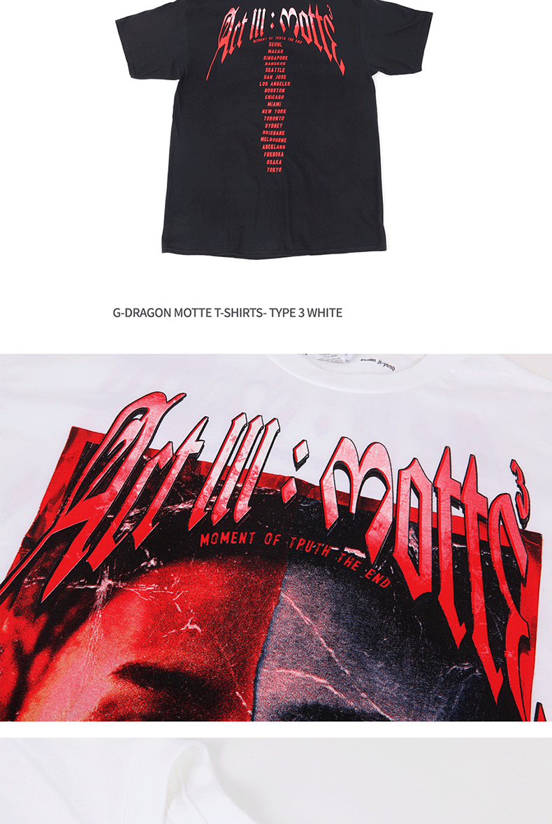 [MOTTE] G-Dragon - T-SHIRTS TYPE 5 (Order can be canceled cause of producing issue)