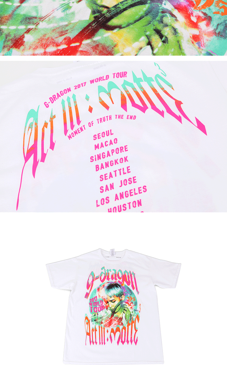 [MOTTE] G-Dragon - T-SHIRTS TYPE 2 (Order can be canceled cause of producing issue)