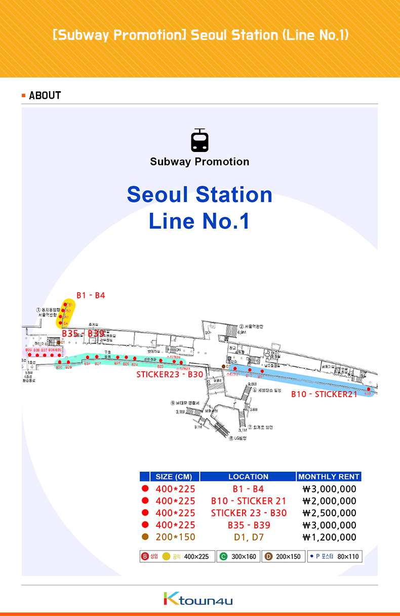 [Subway Advertisement] Seoul Station (Line No.1)