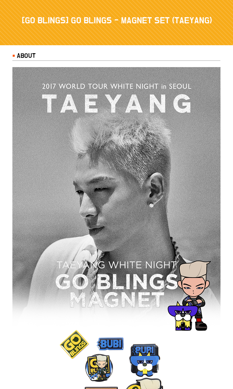 [GO BLINGS] GO BLINGS - MAGNET SET (TAEYANG)