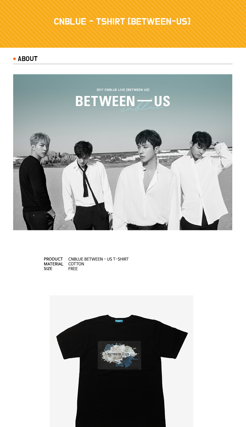 CNBLUE - Tシャツ [BETWEEN-US]