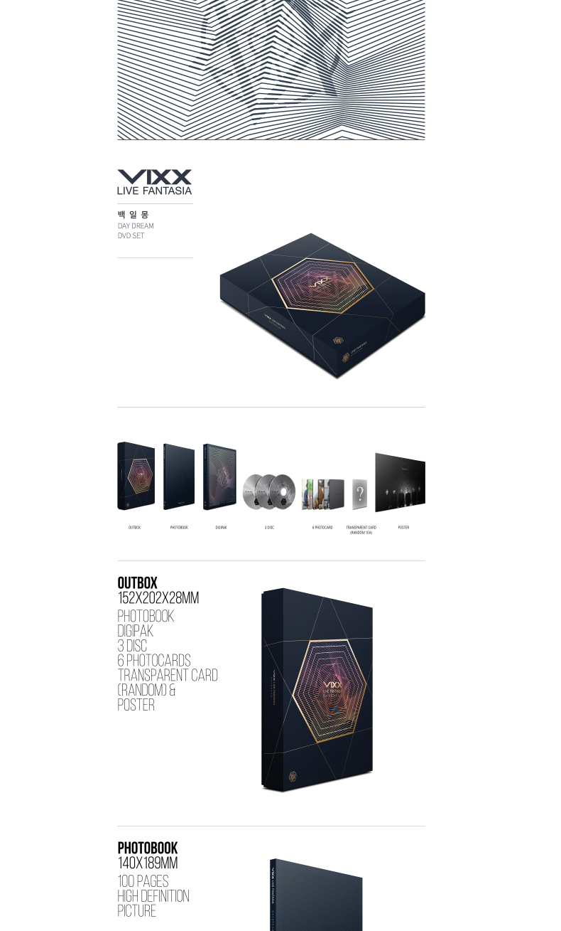 [韓国盤DVD] ビックス (VIXX) - VIXX LIVE FANTASIA DAY DREAM DVD