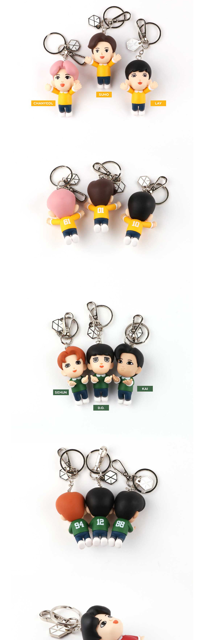 EXO - FIGURE KEYRING (SUHO) (Mirror included)